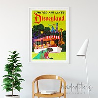 United Airlines, Disneyland Poster