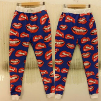 Red Mouth Joggers