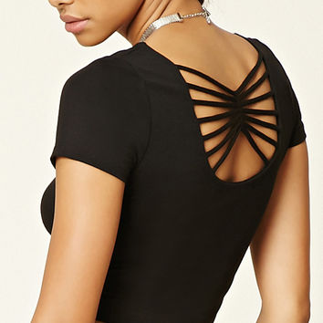 Strappy-Back Crop Top