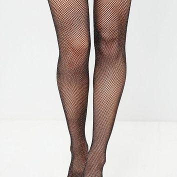 Missguided - Black Glitter Hold Up Tights