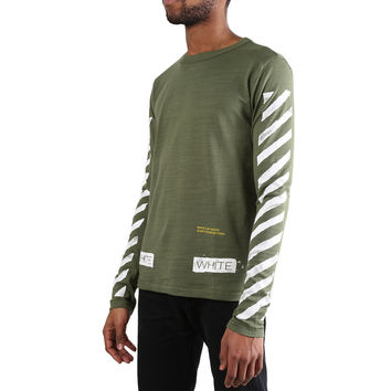 OFF-WHITE c/o Virgil Abloh Caps Long Sleeve T-Shirt (Green) – RSVP Gallery