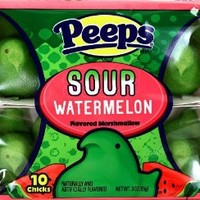 PEEPS SOUR WATERMELON FLAVORED MARSHMALLOW (1 PACK)