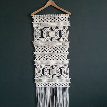 Large Macrame wall hanging Macrame fiber art Macrame wall art Wall decor Contemporary wall decor