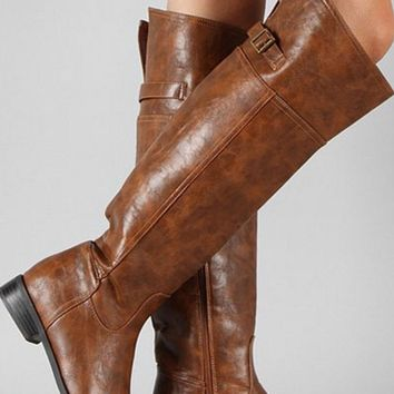 Tall Riding Boots - Tan - $20