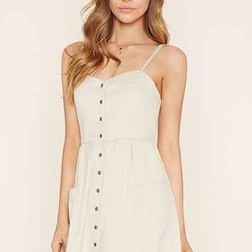 Linen-Blend Cami Dress