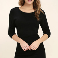 All-Time Favorite Black Bodycon Sweater Dress