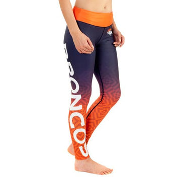 Denver Broncos Women's Gradient Leggings – Navy Blue