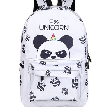 University College Backpack 17 Inch Panda  for Teenager Girls Laptop Mochila Feminina Unicorn  Student School  Women Travel BagsAT_63_4