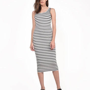 Midi Striped Tank Dress