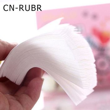 ESBON CN-RUBR 300pcs/Lot Woemen Face Wipes Cotton Fashion Nail Polish Remover Wipes Mini Portable Makeup Face Cleansing Pads