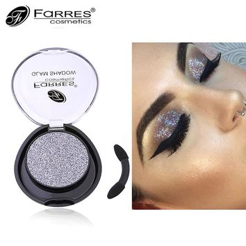 1PC Professional Eye Shadow Waterproof Makeup Long Lasting Pigmented Glitter Shimmer Dark Red Silver Eyeshadow Single Palette