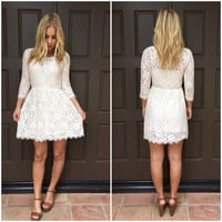 Canteburry Cream Lace Dress