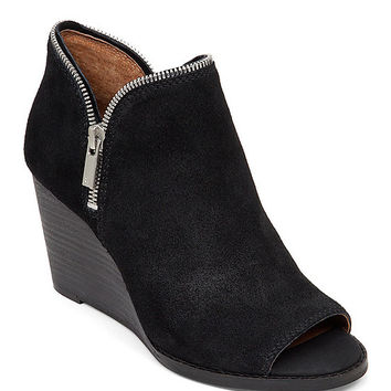 Lucky Brand Jakobie Peep-Toe Wedge Booties | Dillards