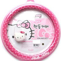 Hello Kitty Pink Steering Wheel Cover - Polka DOT