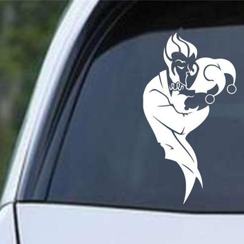 Day-First™ Suicide Squad Harley Quinn and Joker Kissing Die Cut Vinyl Decal Sticker