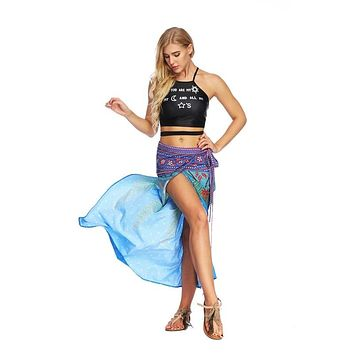 Boho Chic Thai Print Wrap Skirt (7 Colors)