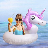 Inflatable unicorn Pool Float Party Tube Pool Raft Summer Swimming Pool Outdoor Toy For Baby Infants & adults (Purple)