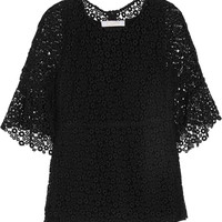 Chloé - Guipure lace and silk top