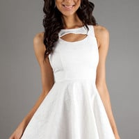 Short Ivory White Dress by XOXO