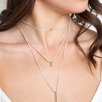 Hidden Treasure Layered Necklace - Blush
