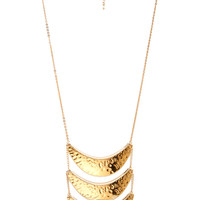 Dimpled Crescent Tiered Necklace