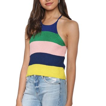 Gab Kate Tropic Stripe Knit Cami