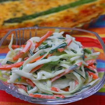 Recipes - Homemade Coleslaw with Chives