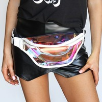 Game Day Translucent Clear & White Fanny Pack