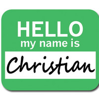 Christian Hello My Name Is Mouse Pad - No. 2