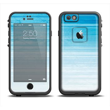 The Fading Light Blue Streaks Apple iPhone 6 LifeProof Fre Case Skin Set