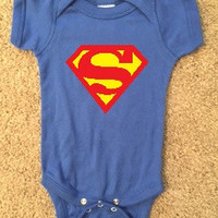Superman Onesuit - Boy Onesuit - Childrens Clothing  - Ruffles with Love - Baby Clothing - RWL Kids