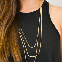 Foi Clothing Boutique — Three Strand Layering Necklace