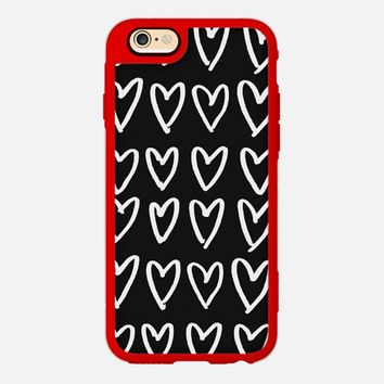 BW Hearts iPhone 6 case by DuckyB | Casetify