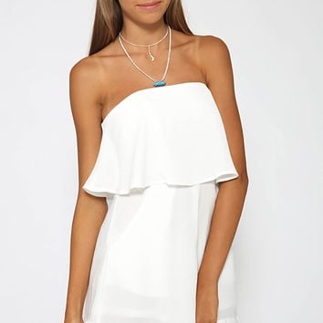 Love Yourself Playsuit - White