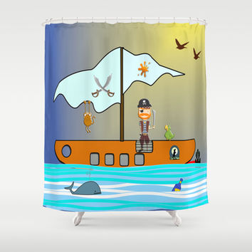The Pirate Shower Curtain by LoRo  Art & Pictures