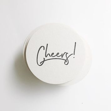Cheers! Letterpress Coasters