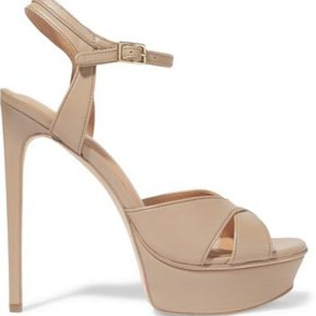 Naomi leather platform sandals | HALSTON HERITAGE | Sale up to 70% off | THE OUTNET