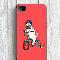 Funny Pug Riding iPhone 4 Case