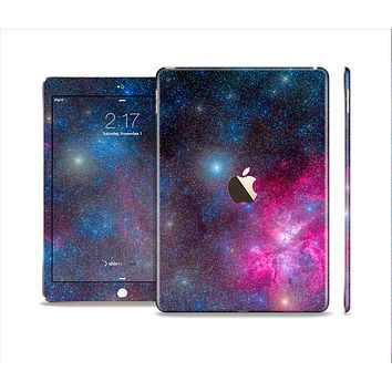 The Pink & Blue Galaxy Skin Set for the Apple iPad Air 2