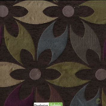Color Block Floral Fabric