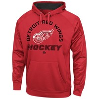 Majestic Detroit Red Wings Drop Pass Synthetic Fleece Hoodie - Men