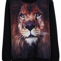 Lion Close Up Pullover