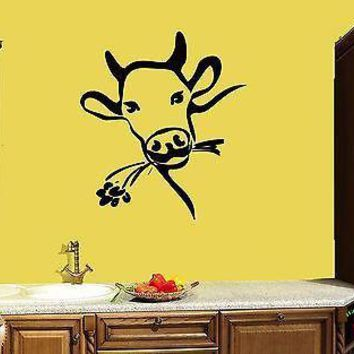 Wall Sticker Cow Farm Village Country Side Cool Modern Decor  Unique Gift z1452