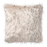 Snow Cat Faux-Fur Pillow Cover