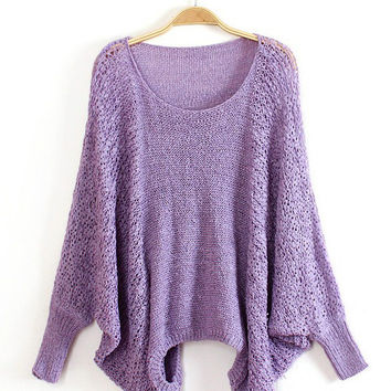 Elastic Cutout Long Sleeve Knit Sweater