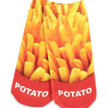 Photorealistic French Fry Socks