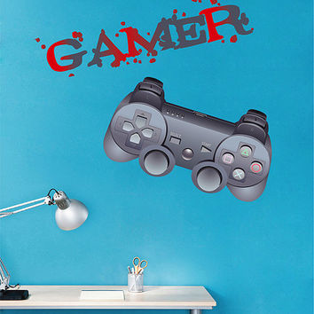 kcik1500 Full Color Wall decal controller console Xbox 360 Game PS4 player bedroom teens