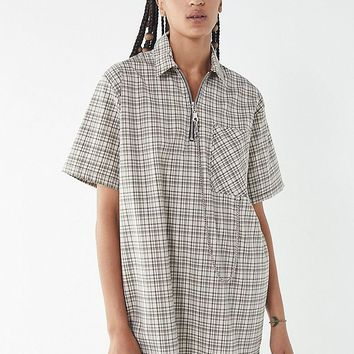 The Ragged Priest Drawback Plaid Shirt Dress | Urban Outfitters