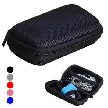 Travel Portable Data Line Earphone Storage Box Organizer Data Line Cables Storage Container Case Earbuds SD Card Box 15
