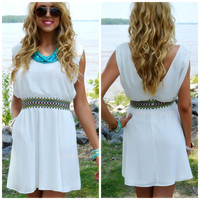 Broadwater Island Off White Embroidered Dress